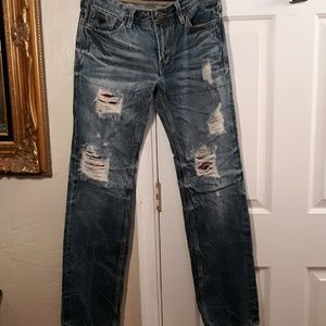 Guess Lincoln Slim Straight Distressed Jeans